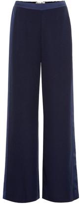 Diane von Furstenberg Ciara high-rise wide-leg crApe pants