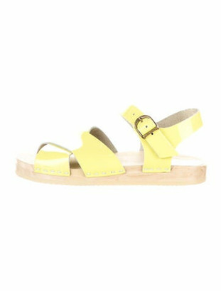 NO.6 STORE Patent Leather Sandals Yellow