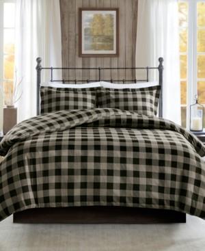 Woolrich Flannel King/Cal King 3 Piece Check Print Cotton Duvet Cover Set