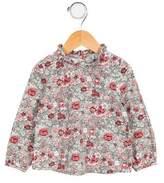 C de C Girls' Floral Long Sleeve Top