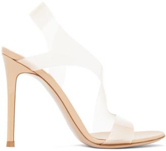 Gianvito Rossi Beige Metropolis 105 Heeled Sandals