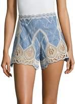 Jonathan Simkhai Women's Crochet Embroidered Shorts