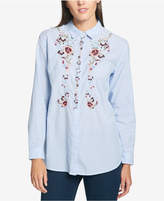 Tommy Hilfiger Cotton Embroidered Shirt, Created for Macy's
