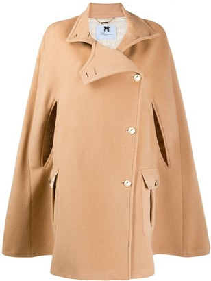 Blumarine Wool Cape Coat