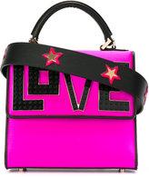 Les Petits Joueurs Love slogan tote - women - Silk/Leather/Plastic - One Size