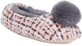Kensie Tweed Pom Pom Ballet Slippers