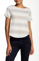 Luma Short Sleeve Striped Linen Blend Blouse