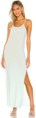 Bobi Draped Modal Jersey Maxi Dress