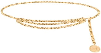 Chanel Pre Owned Medallion Three-Chain Belt