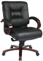 Pro-Line II Black Leather Mid Back Executive Office Chair