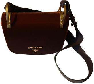 Prada PionniAre Burgundy Velvet Handbags