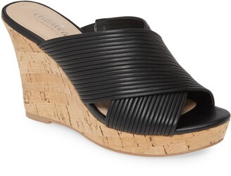 Charles by Charles David Linger Wedge Slide Sandal