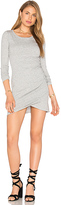 Bobi Supreme Jersey Long Sleeve Ruched Mini Dress