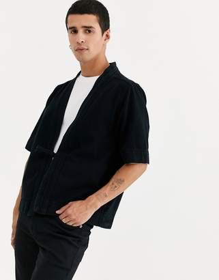 Asos Design DESIGN denim kimono in washed black