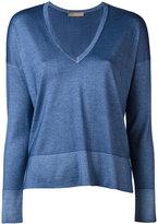 Cruciani V-neck jumper - women - Silk/Cashmere - 40