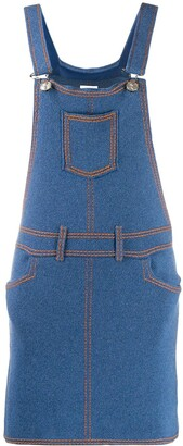 Barrie Denim Pinafore Dress