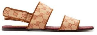 Gucci Senior Gg Supreme Canvas Sandals - Tan
