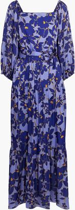 Sachin + Babi Maci Belted Floral-print Satin Maxi Dress