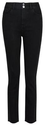 Dorothy Perkins Womens Black Raw Hem Slim Jeans, Black
