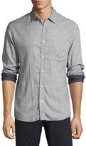 Billy Reid Kirby Line-Print Cotton Shirt