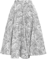 Optical Print Circle Skirt