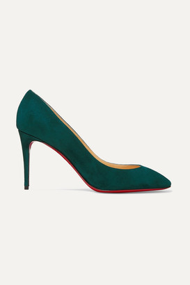Christian Louboutin Eloise 85 Suede Pumps - Forest green