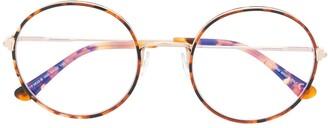 Tom Ford Tortoiseshell Thin Round Frame Glasses