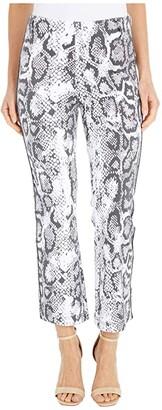 Lysse Octavia Snake Print Baby Bootcut Knit Denim (Black Viper) Women's Jeans