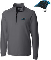 Cutter & Buck Men's Carolina Panthers 3D Emblem Jackson Overknit Quarter-Zip Pullover