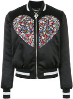 Philipp Plein Swarovski crystal embellished bomber jacket - women - Polyester/Spandex/Elastane/Acetate/Viscose - XS