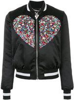 Philipp Plein Swarovski crystal embellished bomber jacket