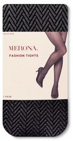 Merona Women's Plus-Size Tights Black Herringbone 2X