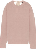 Joseph Tie-back Cashmere Sweater - Blush