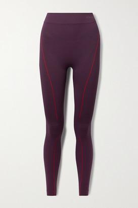 FALKE ERGONOMIC SPORT SYSTEM Stretch-knit Leggings - Dark purple