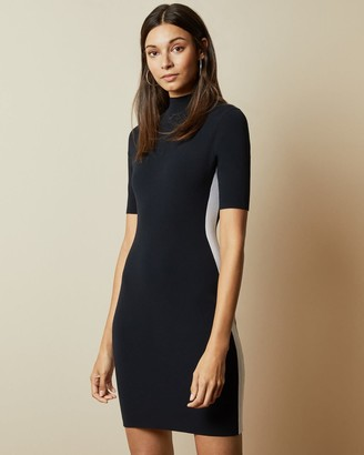 Ted Baker Short Sleeve Knitted Bodycon Dress