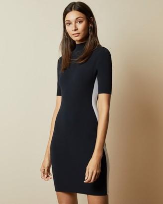 Ted Baker Short Sleeve Knitted Bodycon Dress