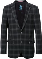 GUILD PRIME checked single breasted blazer