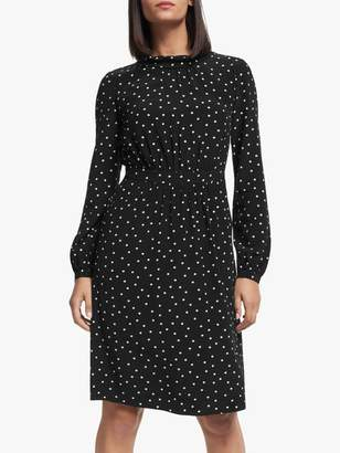 Boden Lucinda Dress, Black/Camel Spot