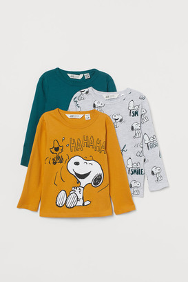 H&M 3-Pack Printed Jersey Tops