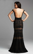 Mac Duggal Couture - 78998 Netted Lace Off Shoulder Sheath Dress