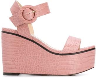 Jimmy Choo Abigail 100mm wedge sandals