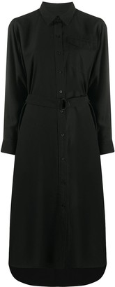 Kenzo Long-Sleeve Belted Shirt-Dress