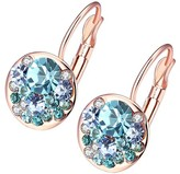 Swarovski Micalla Jewelry MICALLA Jewelry Women's Earrings Blue - Blue & Rose Goldtone Cluster Drop Earrings With Crystals