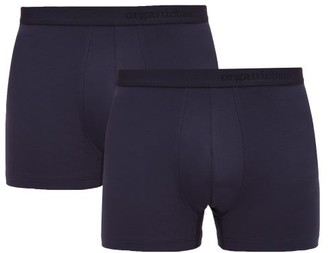 Organic Basics - Pack Of Two Soft Touch Boxer Briefs - Mens - Navy