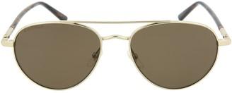 Gucci Aviator-Style Metal Sunglasses