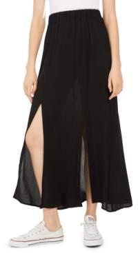 BeBop Juniors' Solid Double-Slit Maxi Skirt