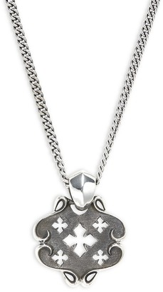 King Baby Studio Cross Shield Pendant Sterling Silver Necklace