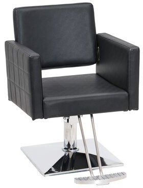 Symple Stuff Spring Street Leather Guest Chair Seat Color: Black