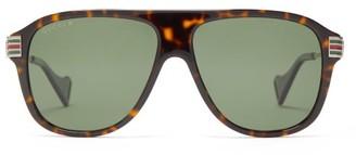 Gucci D-frame Tortoiseshell-acetate Sunglasses - Womens - Tortoiseshell