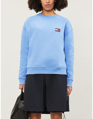 Tommy Jeans Logo-applique cotton-jersey sweatshirt